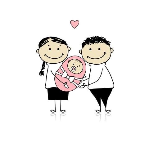 Graviditeten og den lille ny familie