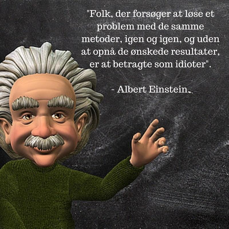 Einsteins definition af en idiot