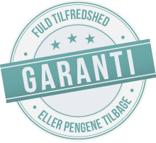 Garanti - fuld tilfredshed eller pengene tilbage
