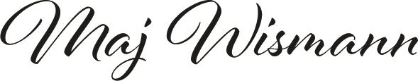 Maj wismann signatur og logo