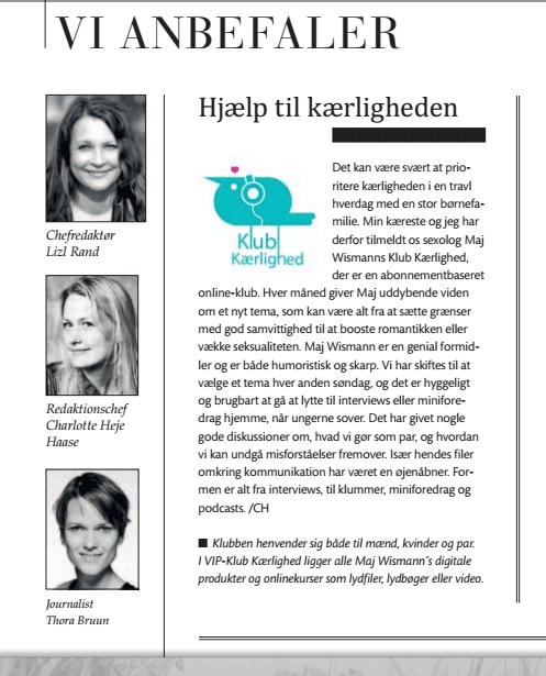 Anbefalet af magasinet Psykologi