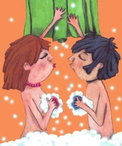 Et fælles bad er hyggeligt og puster til flammen og gnisten
