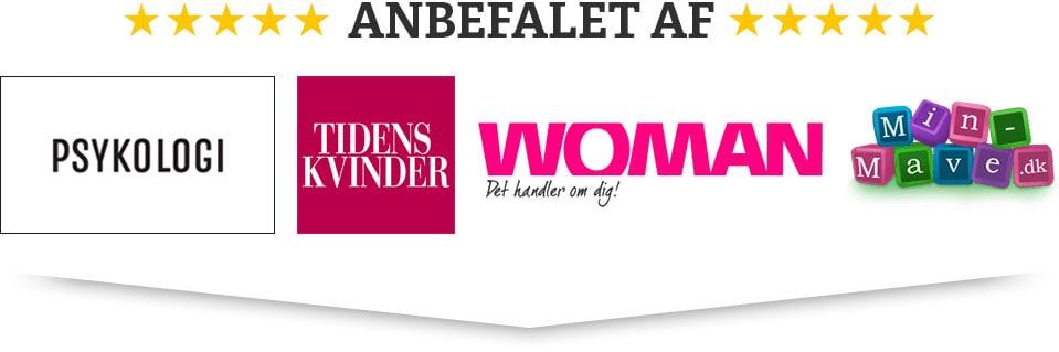 Anbefalet af magasinet Psykologi, Tidens Kvinder og Woman