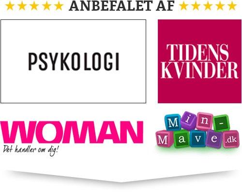 Anbefalet af magasinet Psykologi, Tidens Kvinder, Woman og hjemmesiden minmave.dk